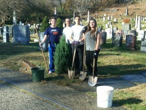 Jersey Cares.Org Kids-With-Heart.org Volunteering  at Jersey City Cemetery